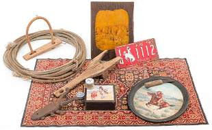 AMERICAN WEST THEMED ITEMS.