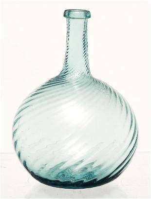 ZANESVILLE BLOWN GLASS BOTTLE.
