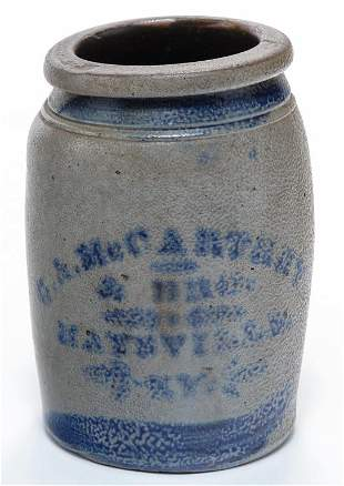 KENTUCKY STONEWARE CANNING JAR.