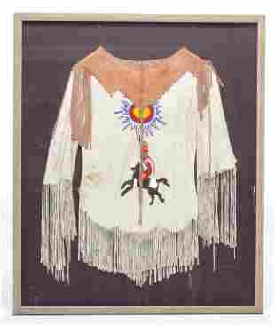 NATIVE AMERICAN BEADED SHIRT.