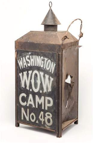 AMERICAN WOODMEN OF THE WORLD LANTERN.