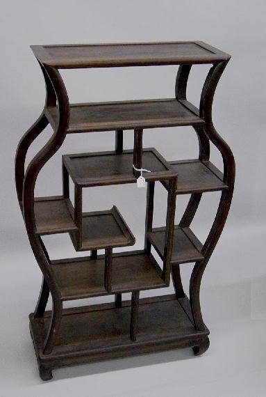 13: SMALL ORIENTAL ETAGERE. Teakwood with an