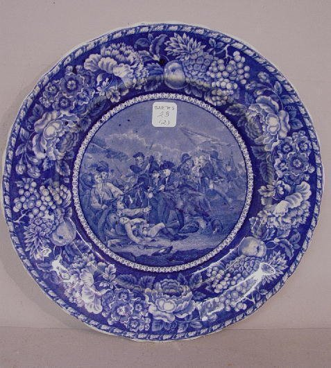23: TWO HISTORICAL BLUE STAFFORDSHIRE PLATES.
