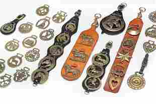 COLLECTION OF HORSE BRASSES.
