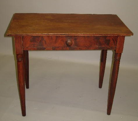 9: DECORATED ONE-DRAWER DRESSING TABLE. Basswood and pi