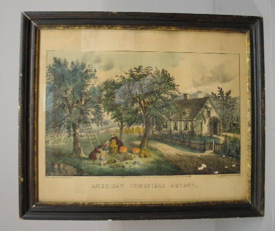 "296: HANDCOLORED LITHOGRAPH BY ""CURRIER & IVES"". ""Ameri"