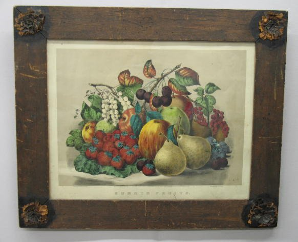 """538: HANDCOLORED LITHOGRAPH BY """"CURRIER & IVES"""". Medium"""