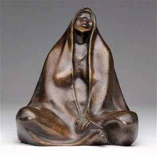 SEATED WOMAN IN THE STYLE OF FRANCISCO ZUNIGA.
