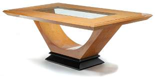AMERICAN MODERN DINING TABLE.