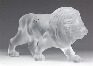 """FRENCH """"LALIQUE"""" GLASS LION."""