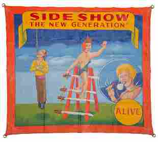 """SIDE SHOW BANNER BY """"MEAH STUDIOS""""."""