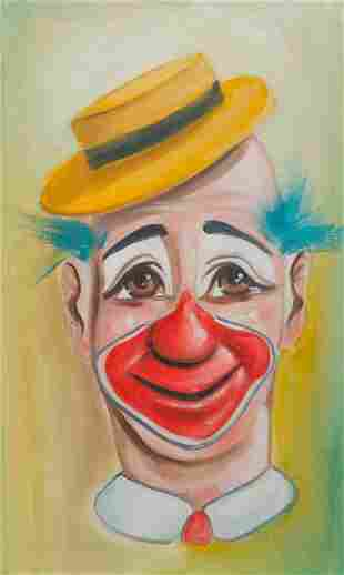 CLOWN PAINTING BY J. SIGLER.