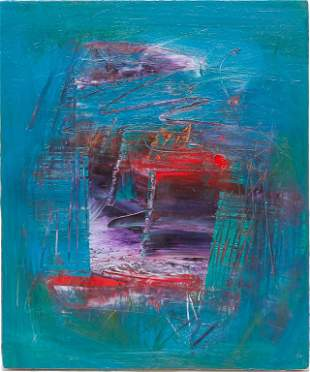 ABSTRACT MODERNIST PAINTING.
