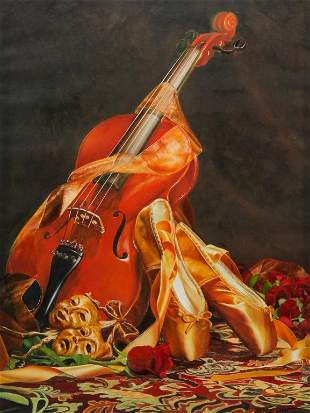 STILL LIFE WITH VIOLIN BY WAY CHEN.