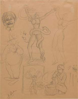 STUDY FOR SIDE SHOW BANNER BY J. SIGLER.
