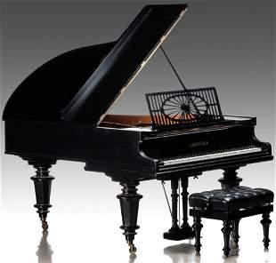 1894 C. BECHSTEIN EBONY GRAND PIANO.