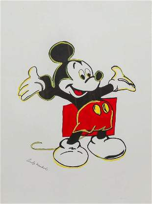 MICKEY MOUSE BY ANDY WARHOL.
