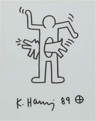 STOMACH IS BARKING BY KEITH HARING.