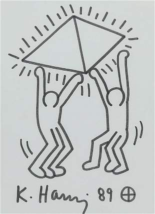 FIGURAL DRAWING BY KEITH HARING.
