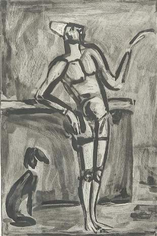 STANDING FIGURE BY GEORGES ROUAULT.
