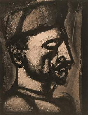 PORTRAIT OF A MAN BY GEORGES ROUAULT.