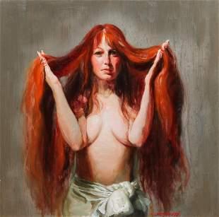 PORTRAIT OF A WOMAN BY JUNE ALLARD BERTE.