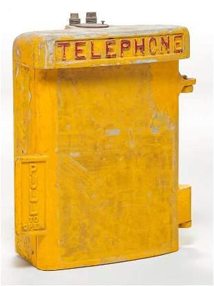 AMERICAN EMERGENCY TELEPHONE BOX.