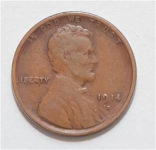 1914-D KEY DATE LINCOLN HEAD CENT