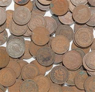 GROUP OF 100+ UNSORTED INDIAN HEAD CENTS