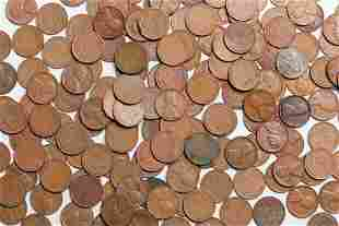 LARGE GROUP OF WHEAT PENNIES