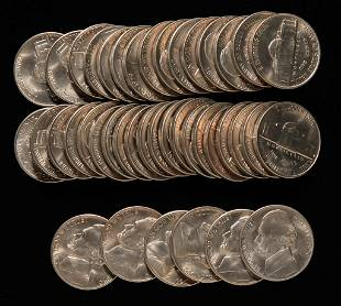 FORTY-ONE UNCIRCULATED 1950-D JEFFERSON NICKELS