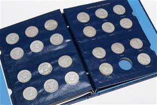 COMPLETE FRANKLIN SILVER HALF DOLLAR COLLECTION