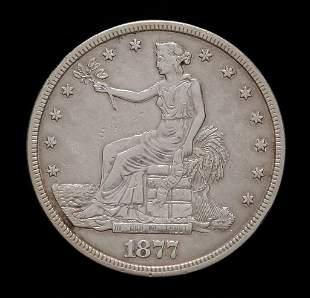 1877 U.S. SILVER TRADE DOLLAR