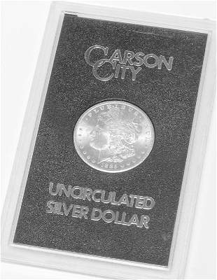 1885 CARSON CITY MINT MORGAN SILVER DOLLAR
