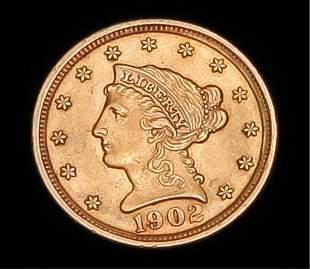1902 LIBERTY HEAD QUARTER EAGLE $2.5 GOLD COIN