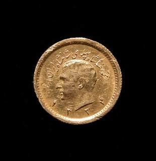 IRANIAN PAHLAVI GOLD COIN
