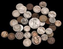 GROUP OF AMERICAN COINS INCLUDING SILVER