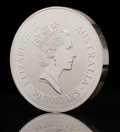 1992 AUSTRALIAN ONE KILO SILVER KOOKABURRA COIN