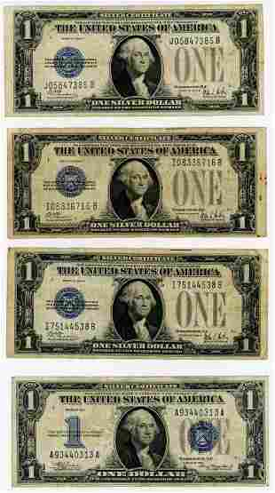 SIX FUNNY BACK $1 SILVER CERTIFICATE NOTES