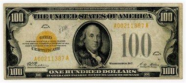 1928 $100 GOLD CERTIFICATE NOTE