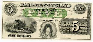 CONNECTICUT, EAST HADDAM $5.00 NOTE