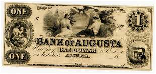 GEORGIA, BANK OF AUGUSTA $1 DOLLAR NOTE