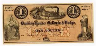 IOWA, COUNCIL BLUFFS $1 DOLLAR NOTE