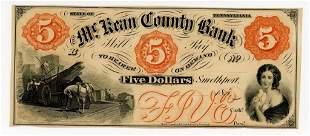 PENNSYLVANIA, SMETHPORT. $5 DOLLAR BANK NOTE