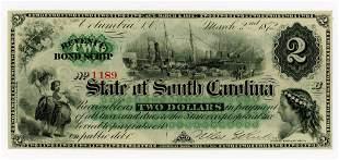 SOUTH CAROLINA, COLUMBIA $2 DOLLAR BANK NOTE