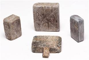 FIVE AMERICAN CARVED STONE BOOKS.