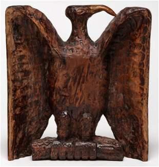 FOLKSY CARVED EAGLE.
