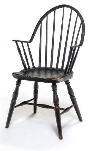AMERICAN CONTINUOUS ARM WINDSOR CHAIR.