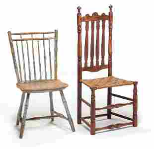 TWO EARLY AMERICAN CHAIRS.