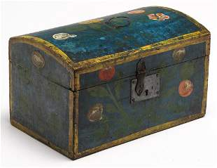 EUROPEAN DECORATED DOCUMENTS BOX.